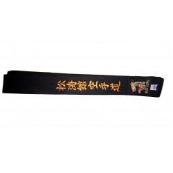 Ceinture Noire Brodée Shotokan Karaté Do ambrée