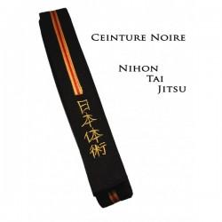 Ceinture noire Nihon Tai Jitsu brodée