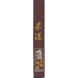 Ceinture Marron MATSURU Brodée Judo