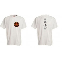 Tee-Shirt Nihon Taï Jitsu Blanc