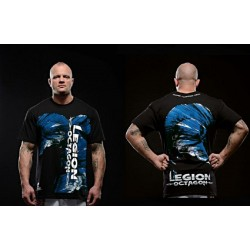Tee-Shirt MMA Légion Octagon Blue Head
