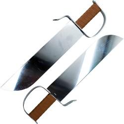 Couteaux papillon chinois en acier pour l'entraînement