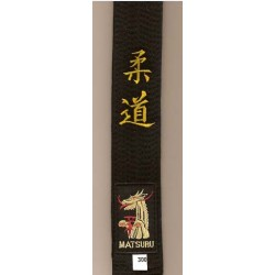 Ceinture Noire MATSURU Brodée Judo