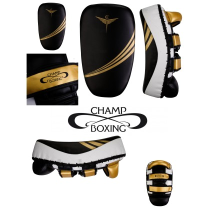 PAO COURBE CHAMPBOXING Noir/Blanc/Or