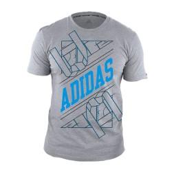 Tee Shirt adidas arts martiaux Gris bleu