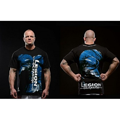 Tee-Shirt MMA Légion Octagon Blue Head